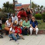 Toda la familia lista para ir a comer alguno de los excelentes restaurantes del Puerto.