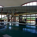 Model plane at Kitty Hawk.
