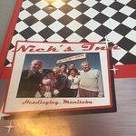 Menu cover, Nick's Inn,5400 Portage Avenue, Headingley, Manitoba