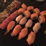 Sushi and seafood carpaccio