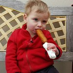 His 1st Pronto pup