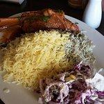 Lamb shank with rice