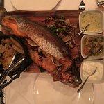Lamb shank,  fish,  prime rib