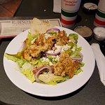 Greek Salad with Chicken Souvlaki