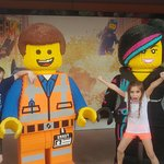 My niece and nephew with Lego movie characters