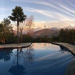 Himalayan panorama from the pool