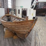 A traditional dinghy from Foula (Shetland) in the Viking style