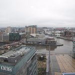 View from South Side, the Lowry Centre is in the middle distance
