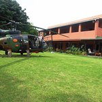 You can park your helicopter on our lawns!