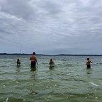 Lake fishing, 600 meter walk