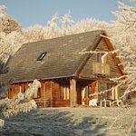 Heron Lodge on a frosty morning