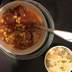Excellent Brunswick stew and macaroni salad!!