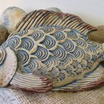 Ceramic fish by Mike Child in Ramsgate, £42