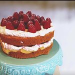 Raspberry cake and lemon cake