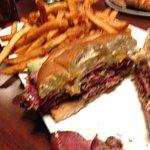 A no meat pastrami pretzel reuben.