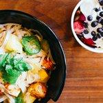Red Coconut Curry stir-fry + honeybar