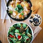 CYO stir-fry, salad + honeybar