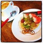 Café da tarde e uma tortinha, depois de uma bela pedalada pela região...