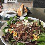 French Dip sandwich and Sirloin Steak Salad