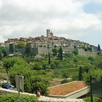 Leaving St Paul de Vence from the bus