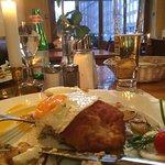 Das Holsteiner Schnitzel mit Bratkartoffel war toll