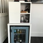minibar with coffee/tea and other options