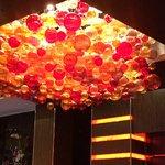 Glass sculpture in the casino
