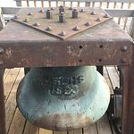 Fog bell on the hotel deck.