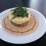 Parmentier de canard sauce foie gras