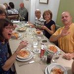 Enjoying the pasta