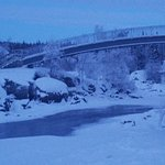 Bridge near the falls
