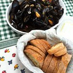 Mussels soup (pepata) spicy
