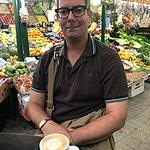 Ceri at Coffee Town in San Telmo, Buenos Aires