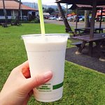 Macadamia nuts milk shake!! Delicious! 4 scoops icecream inside...Ah oh!but AMAZING! Must have!