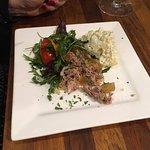 Ham Hough Terrine starter and potato salad
