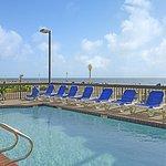 Outdoor heated pool overlooking the ocean