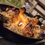Royal shrimps still in flames