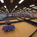 30,000 sq ft table tennis facility with 24,000 sq ft, professionally outfitted playing area
