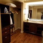 Love the closet space and the large vanity area that is separate from the bathroom.