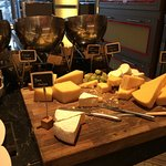 Cheese selection at breakfast