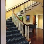 STAIRS TO MEETING ROOMS AND HOTEL ROOMS