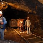 Model of child working in the mine.