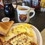Waffles and Scrambled eggs