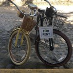 Hotel rents beach blankets and bicycles