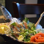 Sanma Sugata Zukuri (Whole saury fish sashimi)