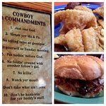 Southern Fried Catfish, BBQ and 10 Commandments - Cowboy Style!  Doesn't get much better than th