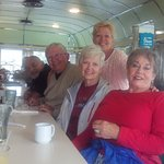 Family at the diner
