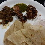 Mouth watering kebabs and paranthas