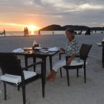 Dining on the Beach - A Nice Touch!