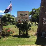 Entrance to Mole Creek Caravan Park